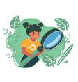 kids explore nature vector image vector image