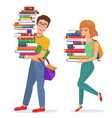 knowledge education with guy vector image
