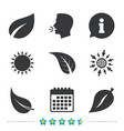 leaf icon fresh natural product symbols vector image