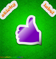 Like Thumb up icon sign Symbol chic colored sticky vector image vector image