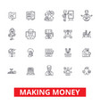 making money financial savings business success vector image