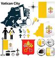 Map of Vatican City vector image