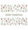 merry christmas icons card vector image