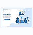 modern flat web page design concept investment vector image vector image