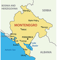 Montenegro - map vector image