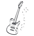 musical instrument bas-guitar on white background