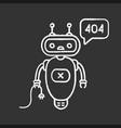 not found error chatbot chalk icon vector image