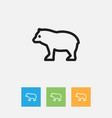 of zoology symbol on predator vector image vector image