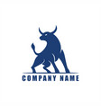 ox bull logo design vector image vector image
