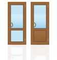 plastic doors 05 vector image vector image