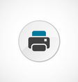 printer icon 2 colored vector image