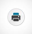 printer icon 2 colored vector image vector image