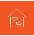 Property resale line icon vector image vector image