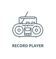 record player line icon linear concept vector image vector image