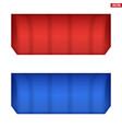 rectangular fabric awnings vector image