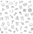 Restaurant pattern black icons vector image vector image