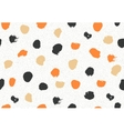 seamless pattern with ink brush circles vector image vector image
