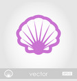 seashell outline icon summer vacation vector image vector image