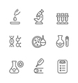 Set line icons of medical analysis vector image vector image