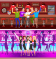 set of bachelor party fiance and groom vector image