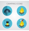 Set of camping symbols and icons Flat design on vector image vector image
