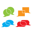 set of chat bubbles of different colors and shapes vector image vector image