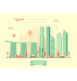 Singapore skyline architecture flat vector image vector image