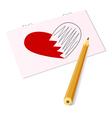 sketch heart vector image vector image