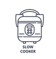 slow cooker line icon concept slow cooker vector image