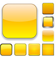 Square yellow app icons vector image vector image