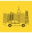 taxi service public transport vector image vector image