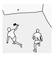 top view man serving the ball in the squash court vector image vector image