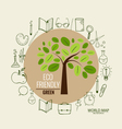 Tree with application icon modern template design vector image vector image