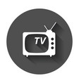 tv icon in flat style television symbol for web vector image