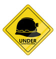 under construction transit signal vector image