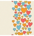 Valentines day lovely seamless texture with cute vector image vector image