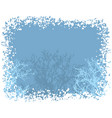 winter snow border background vector image
