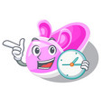 with clock shoes baby above the character rak vector image vector image