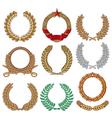 Wreath set - Laurel wreath vector image vector image