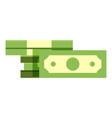 bundle cash icon flat style vector image