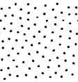 Polka Dot Pattern from Brush Strokes vector image