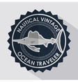 fish seal ocean traveler icon vector image