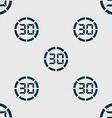 30 second stopwatch icon sign Seamless abstract vector image