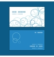 abstract blue circles horizontal corner frame vector image vector image