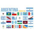 argentina province flags on white background