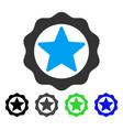 award star seal flat icon vector image vector image