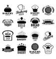 Bakery vintage design elements logos set vector image