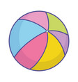 bashower colorful rubber ball toy icon vector image vector image