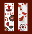 bbq party banners grilled vector image vector image
