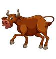 Big brown bull vector image